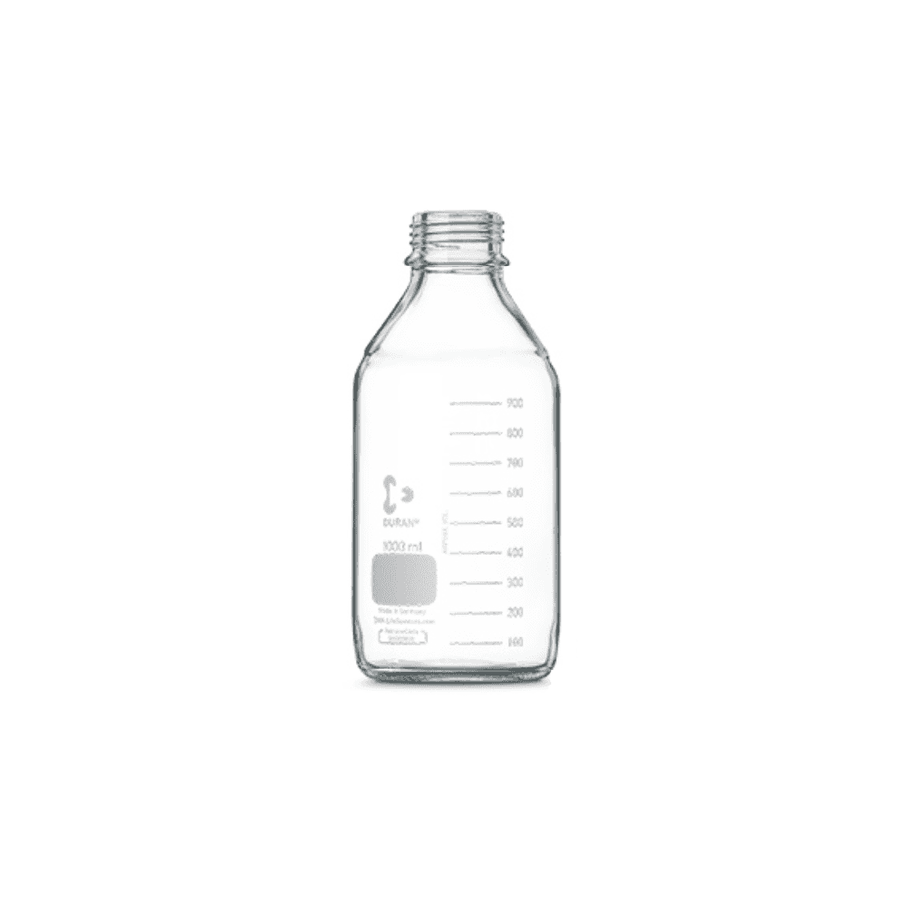 Schott Duran Original round GL45 clear borosilicate glass laboratory bottle  without screw cap or pouring ring 5000ml capacity